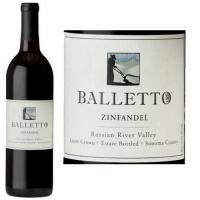 12 Bottle Case Balletto Russian River Zinfandel 2017