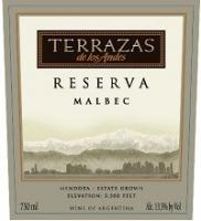 Terrazas De Los Andes Malbec Reserva 750ml