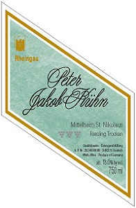 Peter Jakob Kuhn Riesling Trocken Mittelheim St. Nikolaus Gg 750ml