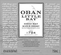 Oban Scotch Single Malt Small Cask Little Bay 750ml