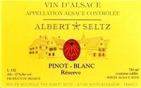 Albert Seltz Pinot Blanc Reserve 750ml