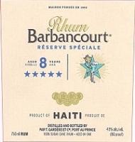 Rhum Barbancourt Rum Reserve Speciale 8 Year 5 Star 750ml