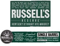Russell's Reserve Rye Whiskey Single Barrel