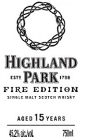 Highland Park Scotch Single Malt 15 Year Fire Edition 750ml
