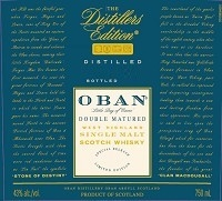 Oban Scotch Single Malt Distillers Edition Vintage 750ml