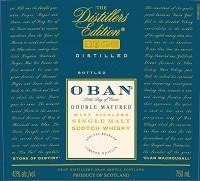 Oban Scotch Single Malt Distillers Edition Vintage 750ml