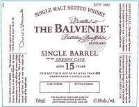 The Balvenie Scotch Single Malt 15 Year Sherry Cask 750ml