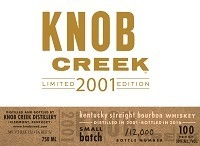 Knob Creek 2001 Limited Edition Bourbon Whiskey