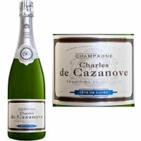 12 Bottle Case Charles de Cazanove Brut Champagne NV Rated 92WS