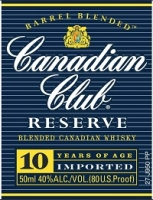 Canadian Club Canadian Whisky Reserve 10 Year 750ml