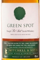Green Spot Irish Whiskey Pot Still 750ml
