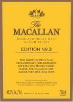 The Macallan Scotch Single Malt Edition No. 3 750ml