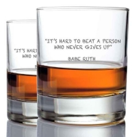 *Babe Ruth Whisky Glasses (2)