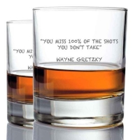 *Wayne Gretsky Whisky Glasses (2)