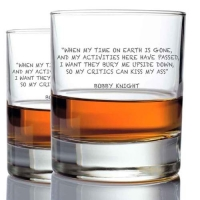 *Bobby Knight Whisky Glasses (2)