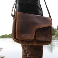 *Handcrafted Buffalo Leather Messenger Bag
