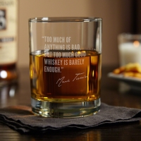 Mark Twain - FAMOUS MEN OF WHISKEY ETCHED GLASS (1)