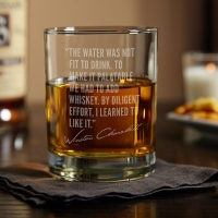 Winston Churchill - FAMOUS MEN OF WHISKEY ETCHED GLASS (1)   00ml