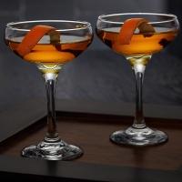 CASABLANCA COCKTAIL COUPE GLASSES, SET OF 2