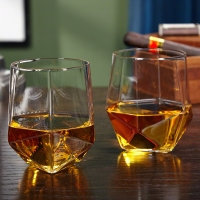 PRISM FACETED WHISKEY TUMBLERS, SET OF 2 00ml